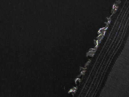 デニム 生地 8オンス ストレッチデニム 黒 117cm幅 [DE2229]