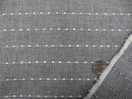 チェック 生地 千鳥格子 ボールチェーン ボーダー 黒 [GC421]