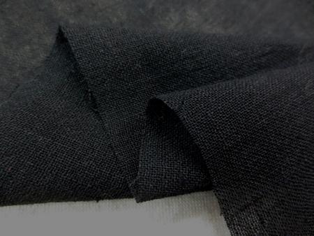 リネン 生地 スラブガーゼ 黒 140cm幅