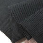 ニット 生地 リブニット  チャコールグレイ 100cm幅 [JJ1492]