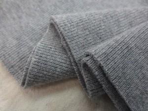 ニット 生地 リブニット  Vintage Foggy Dye 杢グレイ 55cmW幅 [JJ1493]