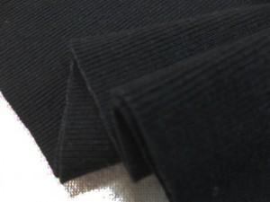 ニット 生地 リブニット  Vintage Foggy Dye 黒 55cmW幅 [JJ1495]