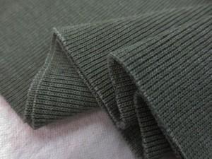 ニット 生地 リブニット  Vintage Foggy Dye モスグリーン 55cmW幅 [JJ1496]