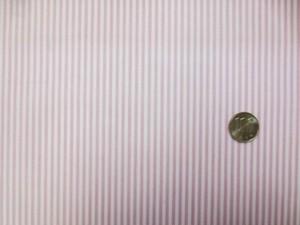 ラミネート 生地 ストライプ ピンク/白 ビニルコーティング 110cm幅 [BN565]