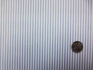ラミネート 生地 ストライプ ブルー/白 ビニルコーティング 110cm幅 [BN566]