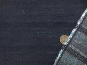 デニム 生地 13.5オンス バックボーダーデニム 濃紺 洗い加工 140cm幅 [DE2250]