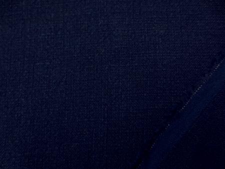 リネン 生地 ボイルドリネン 濃紺 132cm幅 [AS1072]