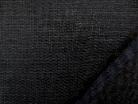 リネン 生地 フレンチリネン 濃紺 145cm幅 [AS1075]
