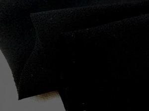 フォーマル 生地 ブラックフォーマル 裏綾ジョーゼット 黒   [MU996]