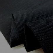 デニム 生地 12オンス ストレッチデニム 真っ黒 148cm幅 [DE2111]