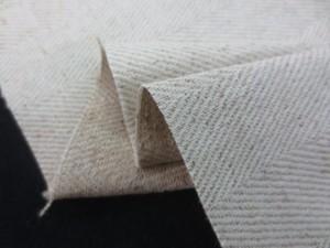 綿麻  生地 綿麻ヘリンボーン 生成麻カラー 106cm幅 [AS1135]
