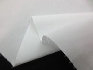 先染め 生地  TC シャンブレー 白 110cm幅 [MU1102]