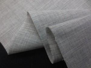 先染め 生地  TC シャンブレー 薄グレイ 110cm幅 [MU1103]