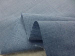 先染め 生地  TC シャンブレー ブルー 110cm幅 [MU1105]