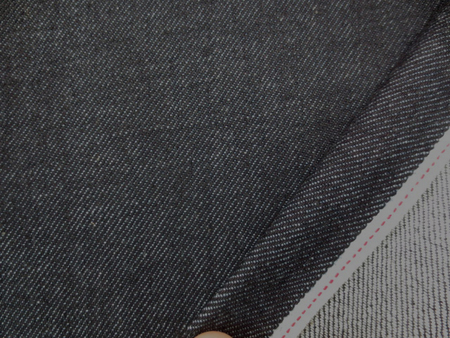 デニム 生地 11オンス セルビッチデニム 濃紺 赤耳 76cm幅 [DE1990]