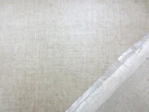 ラミネート 生地 綿麻スラブ 麻カラー ビニールコーティング 130cm幅 [BN493]