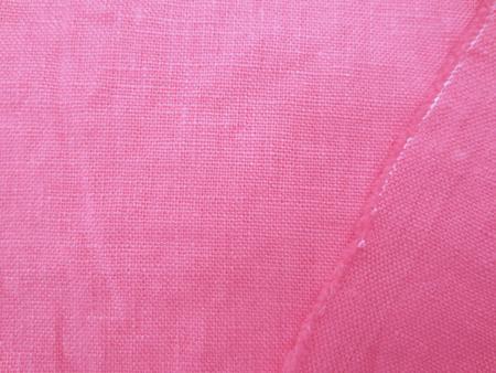 リネン 生地 ヨーロッパリネン 洗い加工  少しオレンジがかった濃ピンク [AS1026]