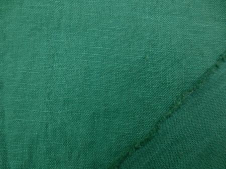 リネン 生地 ヨーロッパリネン 洗い加工  グリーン [AS1028]