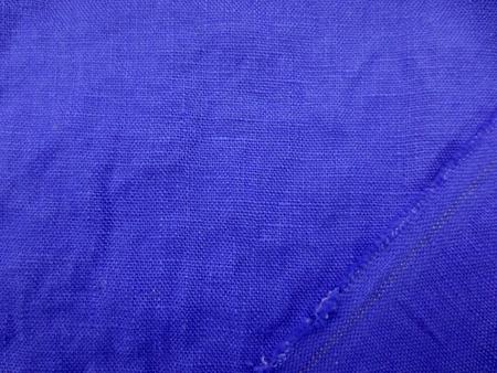 リネン 生地 ヨーロッパリネン 洗い加工 花紺   [AS1029]