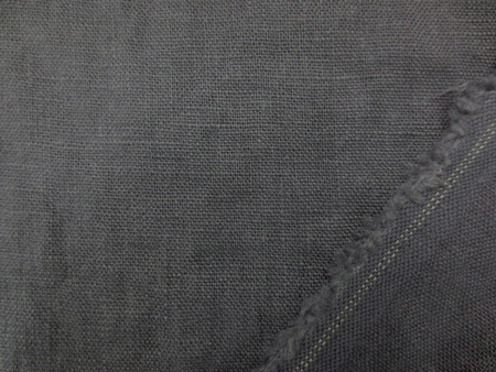 リネン 生地 ヨーロッパリネン 洗い加工 グレイ  [AS1034]