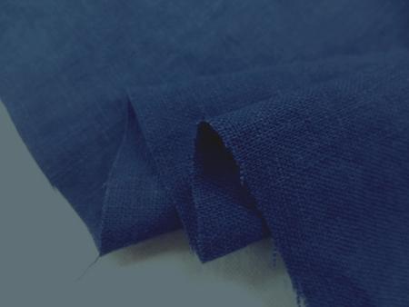 リネン 生地 ヨーロッパリネン 洗い加工 ダークブルー  [AS1033]
