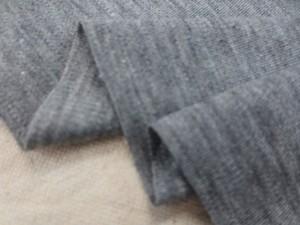ニット 生地 スムースニット 杢グレイ 170cm幅 [JJ1503]