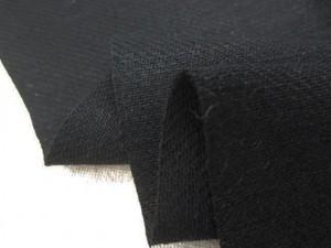 リネン 生地 ヘビーリネン カツラギ ワッシャー 黒 145cm幅 [AS1147]