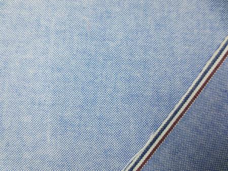 オックスフォード 生地 コットンオックス ブルー トリコロールライン 115cm幅 [DE2270]