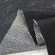 デニム 生地 シルバーラメデニム 黒 153cm幅 [DE2001]