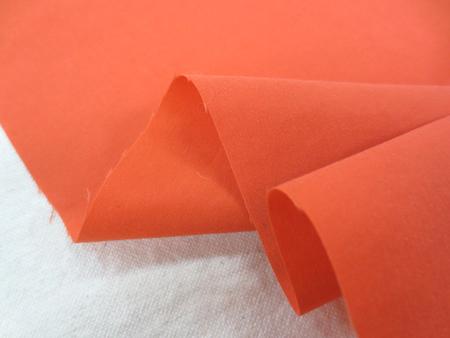生地 撥水加工 ナイロンタフタ オレンジ 150cm幅 [MU961]