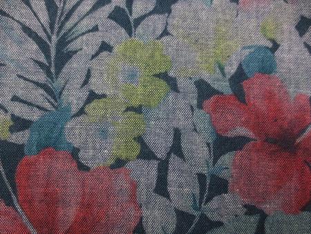 プリント 生地 ダンガリー 多色プリント 花柄 [PT4660]