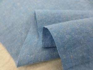 綿麻  生地 綿麻ダンガリー ブルー 洗い加工 118cm幅 [AS1157]