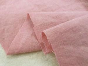 綿麻  生地 綿麻ダンガリー ピンク 洗い加工 118cm幅 [AS1158]