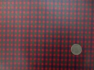 ラミネート 生地 Fチェック 赤 ビニルコーティング 110cm幅 [BN568]