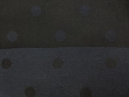デニム 生地 ジャガードデニム ドット 濃紺 152m幅 [DE2292]
