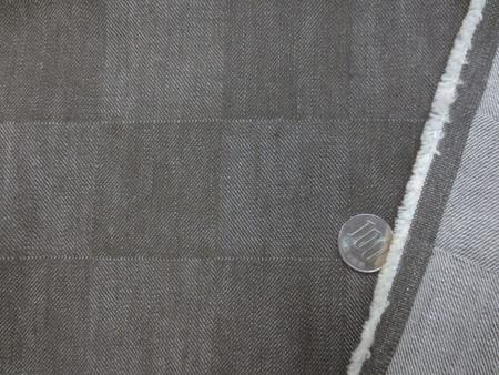 デニム 生地 ストレッチデニム ブロックパッチ ブラウンカーキ 130m幅 [DE2294]