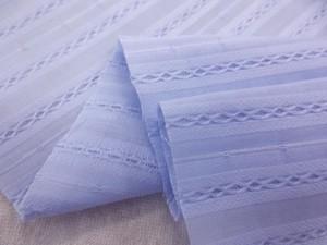 コットン 生地 ドビーボーダーローン ブルー 130cm幅 [MU1014]
