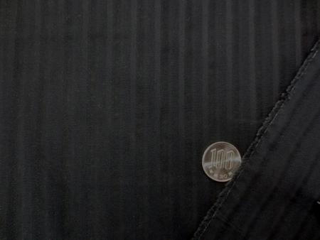 コットンローン 生地 ドビーストライプ 黒 112cm幅 [MU963]