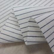 綿麻 生地 ペンシルストライプ 濃紺/生成 112cm幅 [SR760]