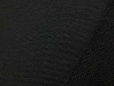 ニット 生地 裏毛 トレーナー地 黒 160cm幅 [JJ1520]