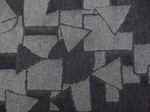 デニム 生地 8オンス  ジャガードデニム ランダムパッチ 濃紺 155m幅 [DE2302]