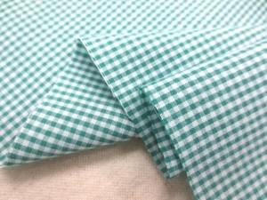 ギンガムチェック 生地 TCギンガム 1.5mmグリーン/1.5mm白 [GC400]