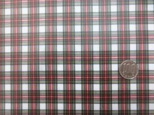ラミネート 生地 タータンチェック スチュアートドレス ビニルコーティング 145cm幅 [BN578]