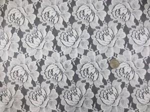 レース 生地 ラッセルレース 花柄 オフ白地 145cm巾 [LA489]