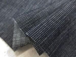 デニム 生地 6オンス ストライプストレッチデニム 濃紺 洗い加工 130m幅 [DE2317]