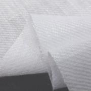 リネン 生地 綾織りリネン 白 134cm幅 [AS1093]