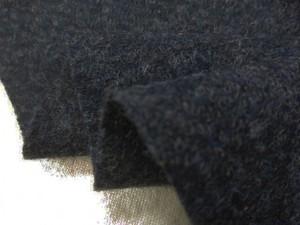 ウール 生地 ウール ツイードタイプ 杢グレイネイビー 140cm幅 [WO1238]