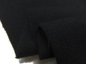 ウール 生地 カシミア混ウール 黒 153cm幅 [WO1240]