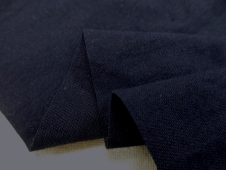 コットン 生地 ツイル ワッシャー 濃紺 微起毛 115cm幅 [MU1038]