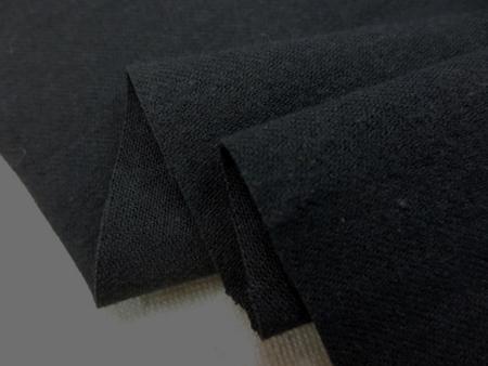 コットン 生地 ツイル ワッシャー 黒 微起毛 115cm幅 [MU1039]